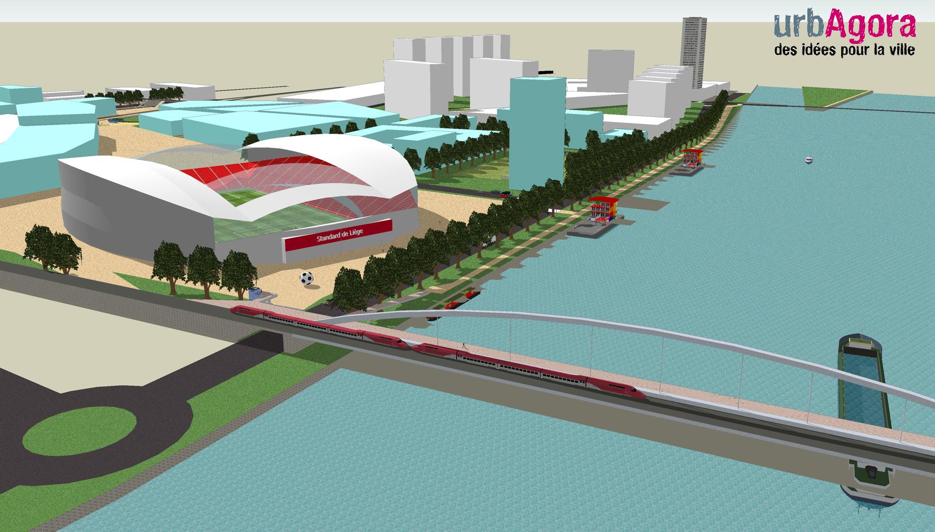 La Parking Citation >> Bressoux et Coronmeuse : des vues 3D de la proposition d'urbAgora - urbAgora asbl